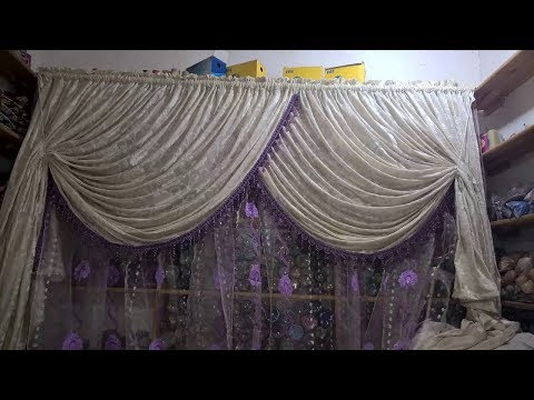 طريقة خياطة ستارة على شكل ريدو كروازي بدون باندة(الجزءالاول)--Stunning curtains designs