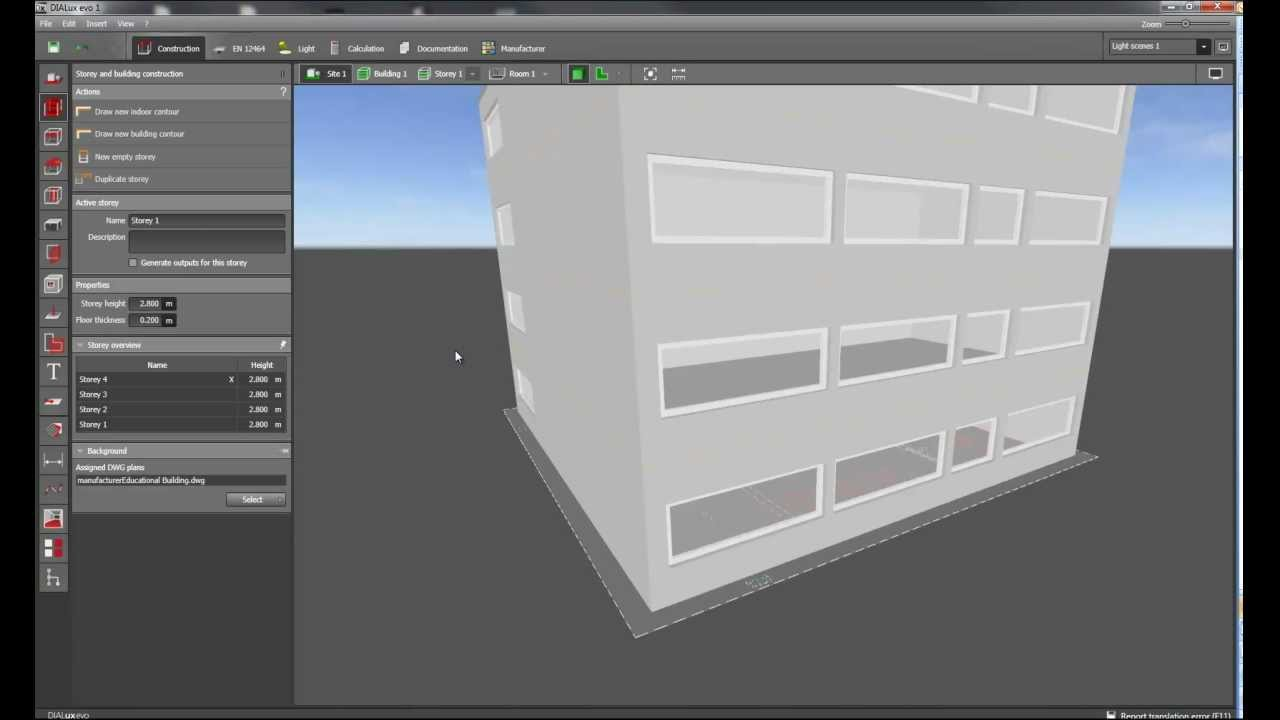 How To Create A Building With Several Storeys Dialux Evo