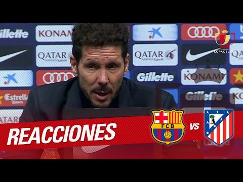 Rueda de prensa de Simeone tras el FC Barcelona vs Atlético de Madrid (1-1)