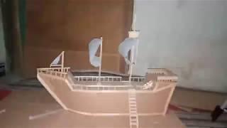 Cara Membuat Miniatur Kapal Mudah Dan Sederhana Dari Kardus