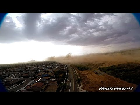 Dust Storm - Arizona Sanoran Desert - 50+mph winds - 4K - Aerial Footage