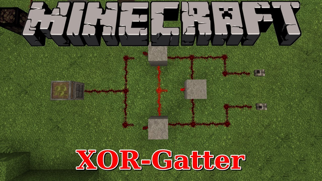 Minecraft xor gatter minecraft tutorial youtube for Porte xor minecraft