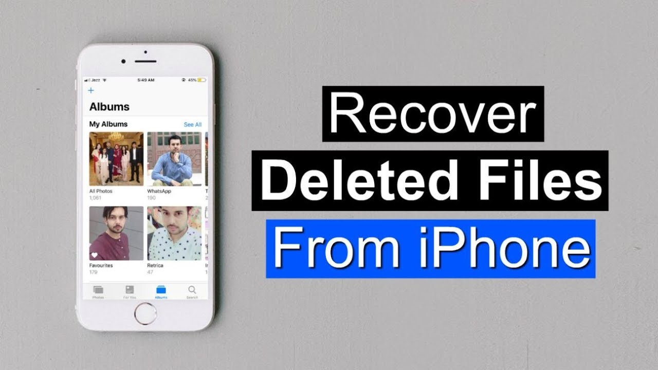 How To Recover Deleted Photos/Videos From iPhone without Backup I Ultdata  iOS Data Recovery