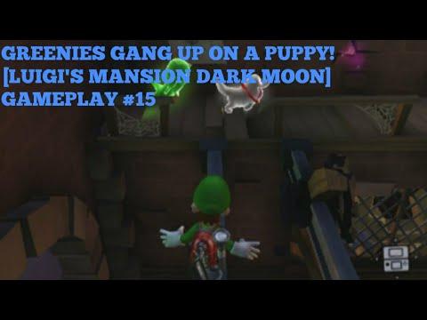 Greenies Gang Up On A Puppy Luigi S Mansion Dark Moon Gameplay 15