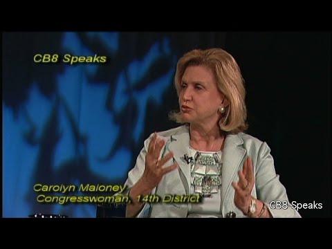 Congresswoman Carolyn B. Maloney is the guest of 'CB8 Speaks'