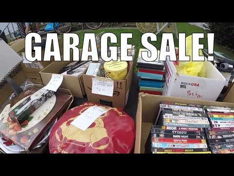 GARAGE SALE Treasure Hunting Live - Jerseys - Antiques + More!