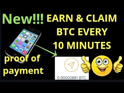 Earn And Claim Free BTC Using Mobile Phone With Proof Of Payment 2019