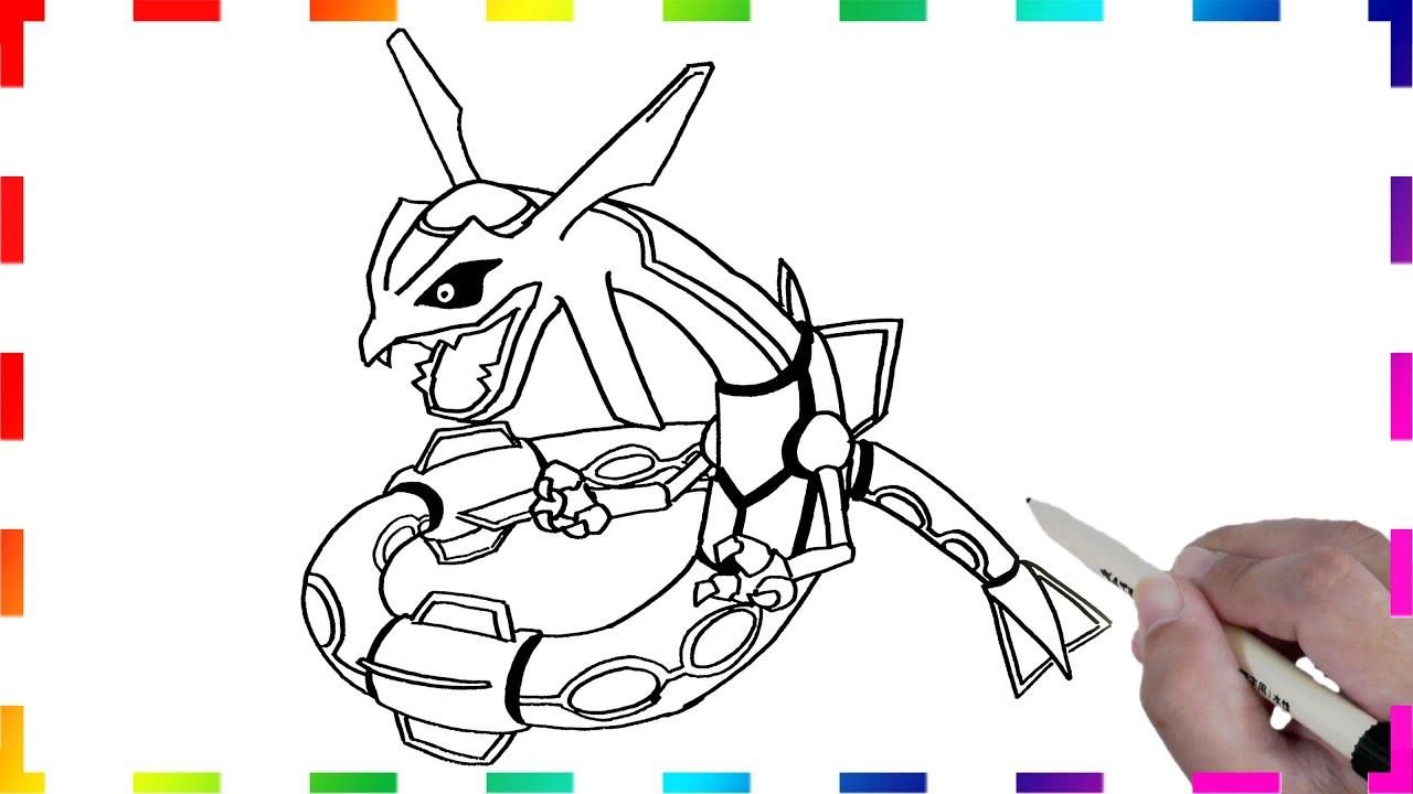 レックウザの描き方 ポケモンのイラスト簡単に書くコツ How To Draw Rayquaza From Pokemon Go Youtube