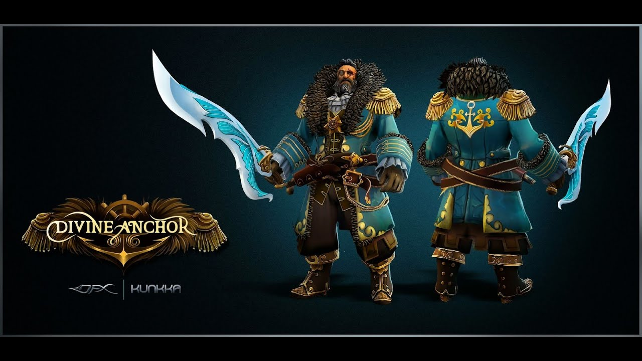 Dota 2 Kunkka Set Bestowments Of The Divine Anchor