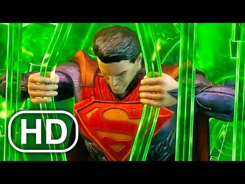 JUSTICE LEAGUE Vs Future Batman, Future Superman, Flash Fight Scene Cinematic - Injustice 1