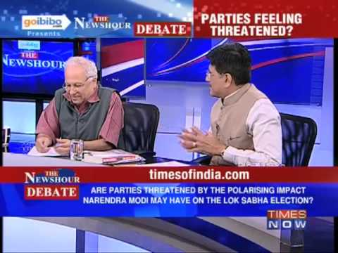 The Newshour Debate: Do political parties feel threatened by Narendra Modi? (The Full Debate)