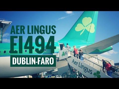 85€ LAST MINUTE!! AER LINGUS EI494 A320 DUBLIN - FARO