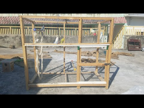 A New Wooden Cage for My Birds | Sliding Door | | Home-made Cage |