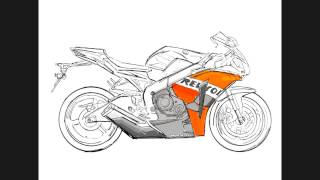 How to draw sport bike from the screach