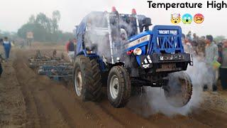 नये ट्रैक्टर मे ऊठा धुंवा Sonalika 750 sikander in 3 Harrow at Lakhu busna