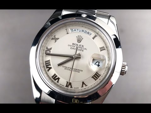 Rolex Day-Date II Ivory Dial Platinum 218206 Rolex Watch Review