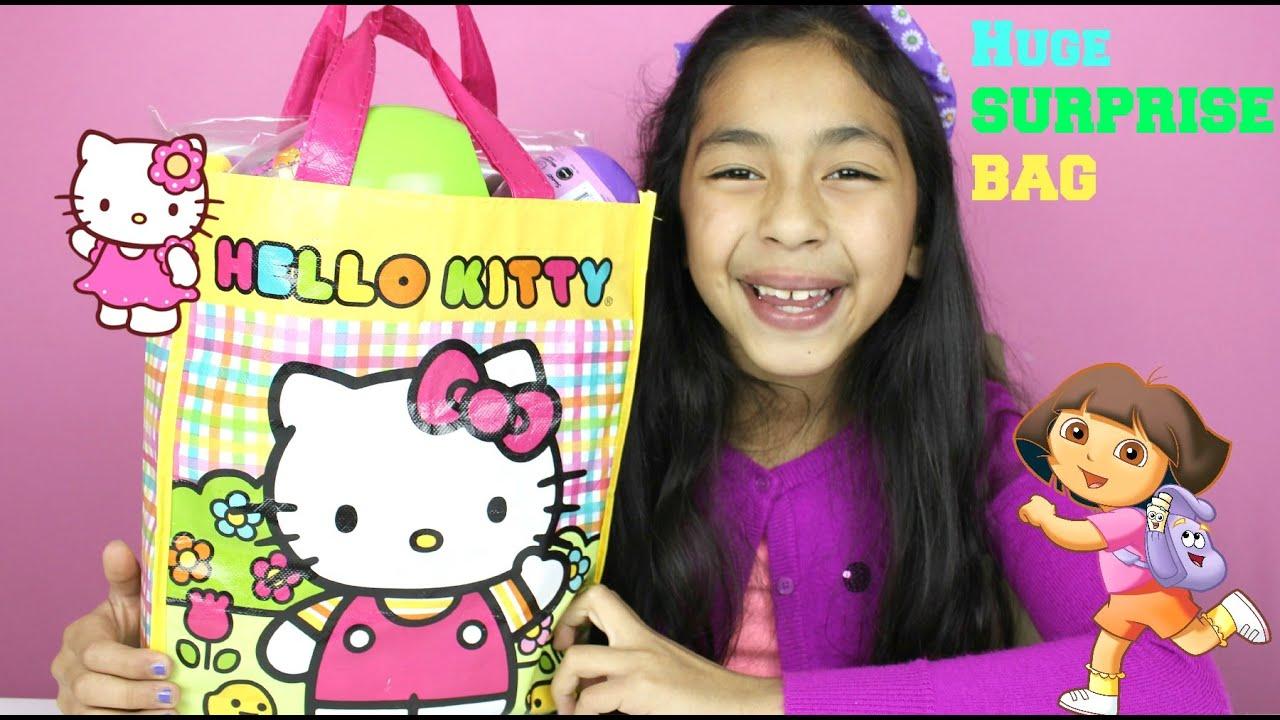 Huge Hello Kitty Surprise Bag Dora The Explorer Activity