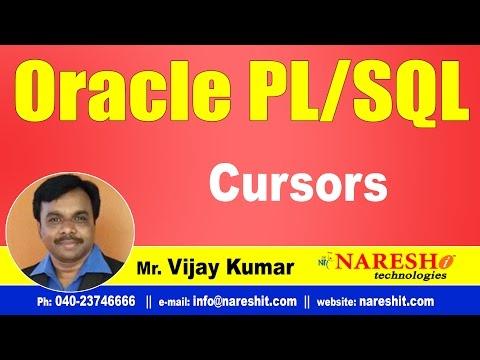 Cursors in PL/SQL | Oracle PL/SQL Tutorial Videos | Mr.Vijay Kumar