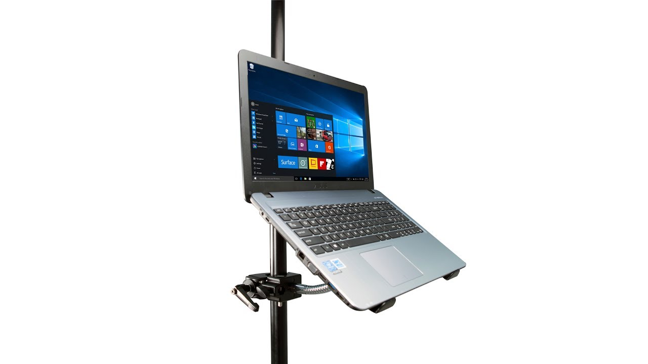 Cta Digital Heavy Duty Gooseneck Clamp Stand For Laptops Pad Hgl