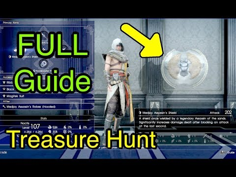 Final Fantasy XV: Treasure Hunt Full Guide (Medjay Assassin's Shield From Assassin's Festival)