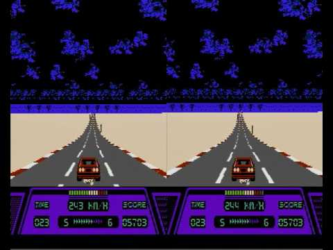 Highway Star (Rad Racer) - Alternate Frame 3D on Real Hardware