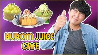 Review BINGSU DƯA LƯỚI, BINGSU TRÀ XANH và BÁNH MÌ SOCOLA MẬT ONG tại Hurom Juice Cafe