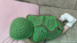 Newborn Turtle Outfit/Newborn Halloween Costume/Baby Turtle Outfit