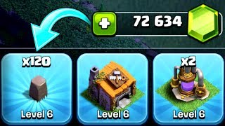 THIS COST ME SO MANY GEMS!!! - Clash Of Clans - HUGE GEM SPREE ON BUILDERS HALL 6!