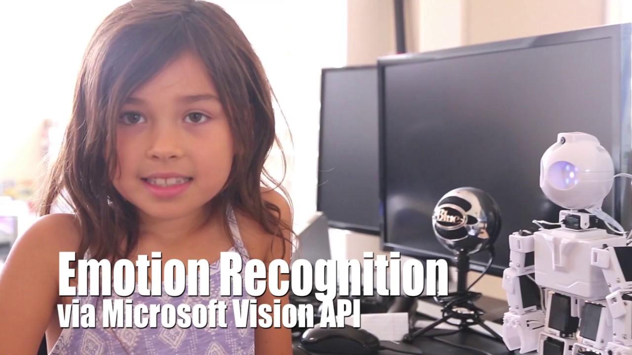 Emotion Recognition via JD Robot and Microsoft Azure