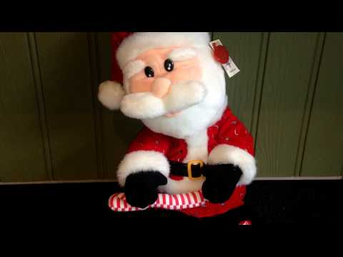 Santa Clause is Coming to Town Christmas Musical Father Christmas Soft Toy Music Video