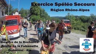 Exercice Spéléo Secours Rhône-Alpes 2015