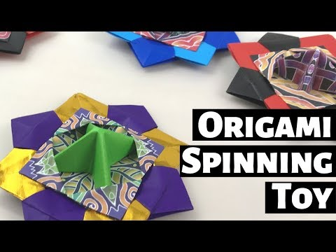 Origami Spinning Toy Tutorial