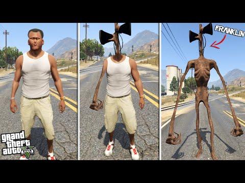 FRANKLIN becomes SIREN HEAD (GTA 5 Mods)