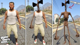 FRANKLIN becomes SIREN HEAD (GTA 5 Mods)