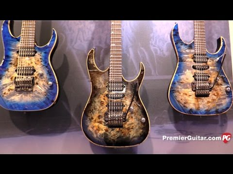 NAMM '17 - Ibanez RG1070 Premium, AFC Contemporary Archtop & AEWC Acoustic  Electric Demos