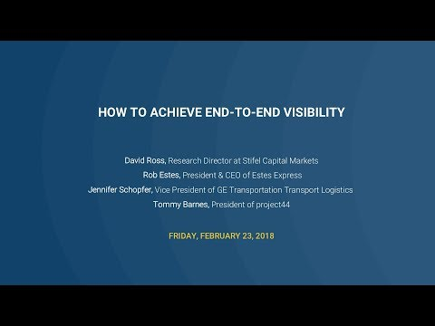 How to Achieve End-to-End Visibility - Stifel Conference Call