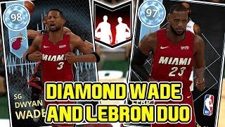 vuclip DIAMOND WADE AND LEBRON BEST MIAMI DUO! ALLEY OOP CRAZINESS! NBA 2K18 MYTEAM GAMEPLAY (DUO SERIES 7)
