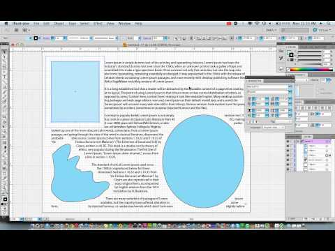 Text Wrap - Beginning a Page Layout in Illustrator CS5