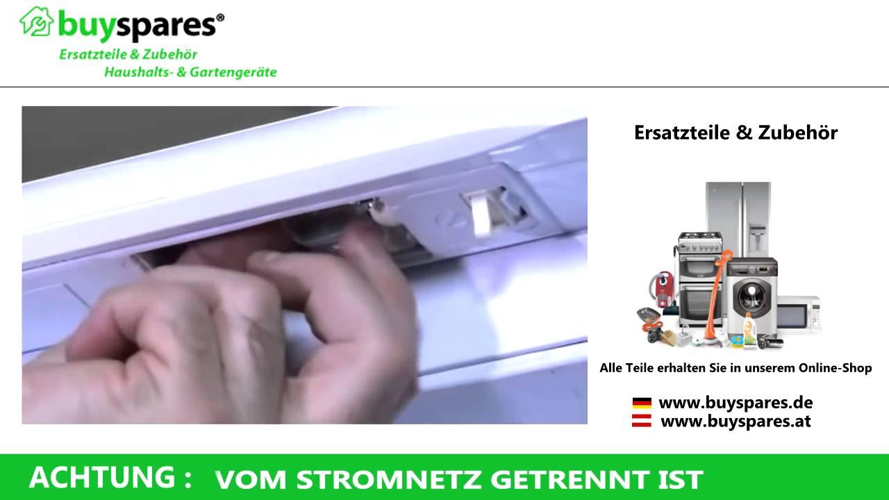 Anleitung: Kaputte Kühlschrank-Lampe austauschen - YouTube
