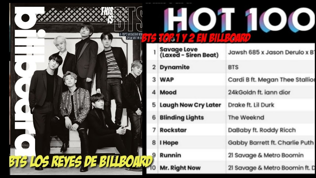 Bts Domina Billboard Hot 100 Con Dynamite Y Savage Love Youtube