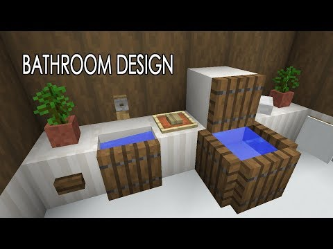 New Water Physics - Bathroom Concept - Shower, Toilet, Sink - Minecraft 1.13 from YouTube · Duration:  2 minutes 49 seconds