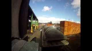 Sherman bros. backing B-train trailer  at customer