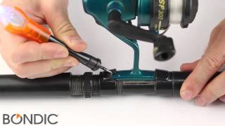 bondic fishing rod reel foot repair