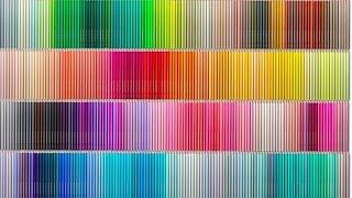 日本「芬理希夢」公司做出了500色的彩色鉛筆,500種顏色,每種都要反復...