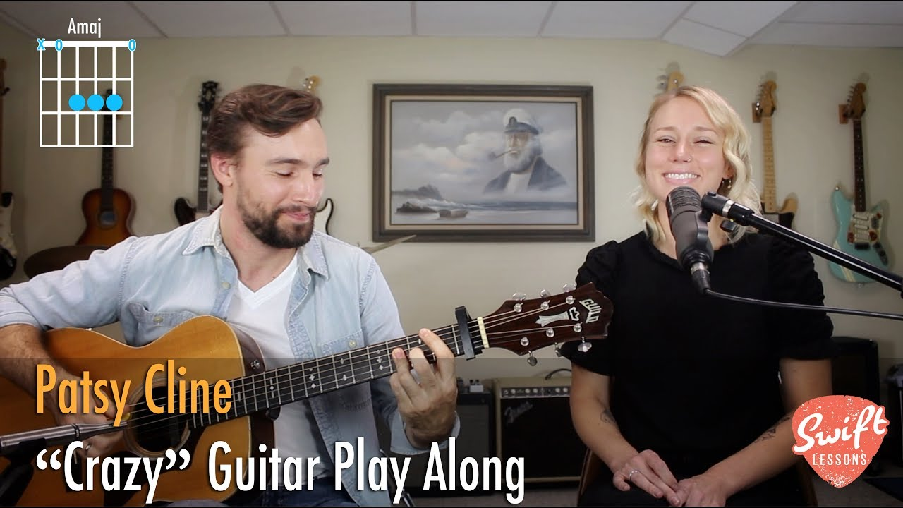 Patsy Cline Crazy Guitar Play Along With Chord Diagrams Youtube