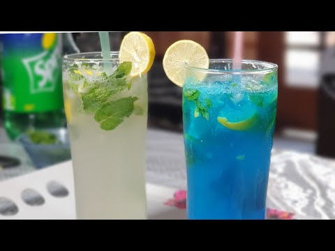 Best Mint Mojito And Blue Curacao Lemonade Drink In 5 Minutes/Summer Refreshing Drinks