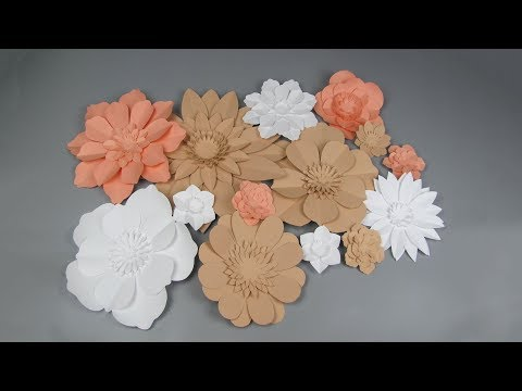 Diy Large Giant Paper Flowers Wedding Wall Background And Home