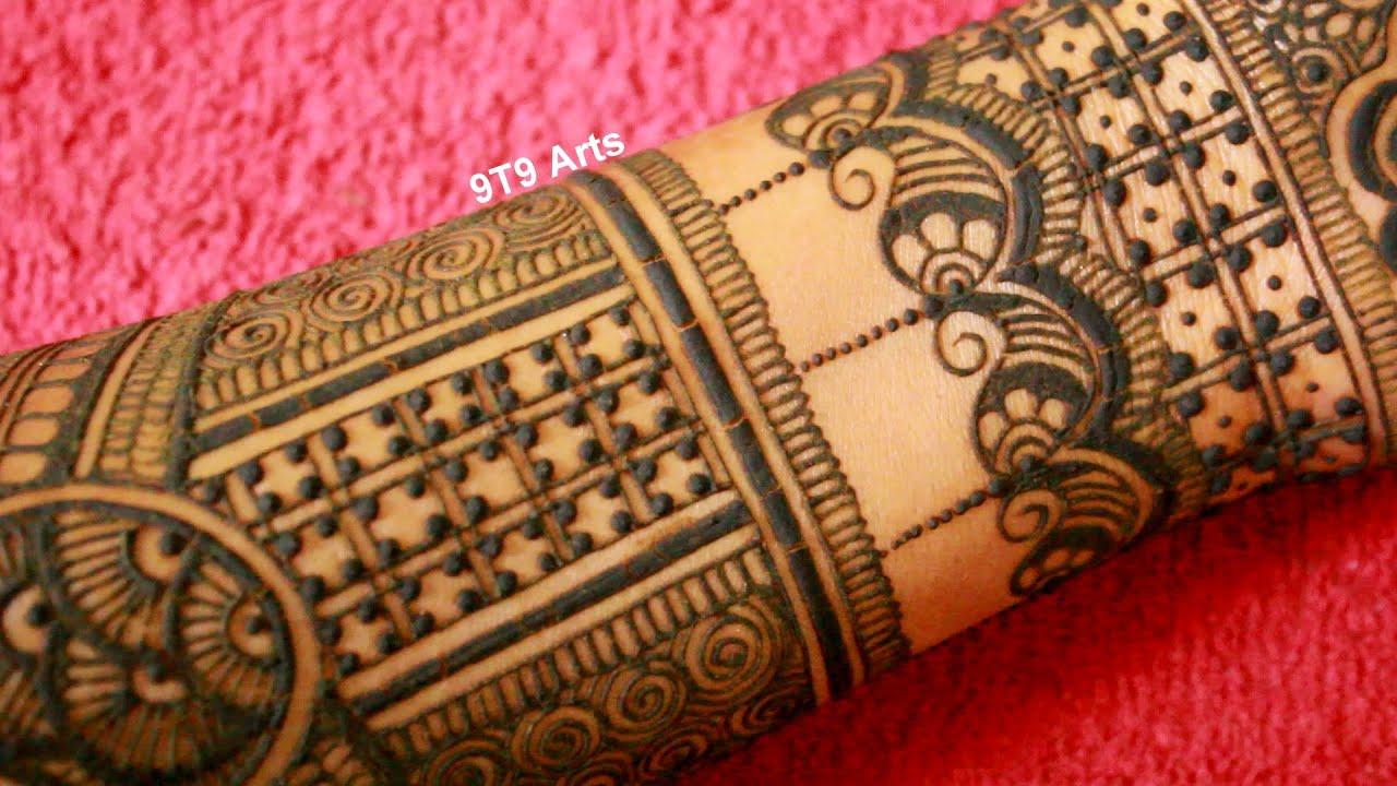 bharwa hand mehndi design