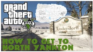 GTA V HOW TO GET TO NORTH YANKTON IN STORY MODE! NO MOD