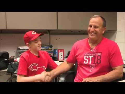 Cincinnati Reds Manager For A Day, Elliott's Wish   Make-A-Wish CWNC